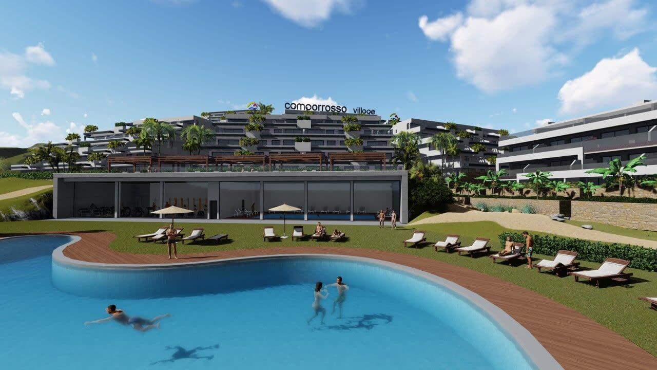 Moderne Wohnungen mit Panoramablick aufs Meer