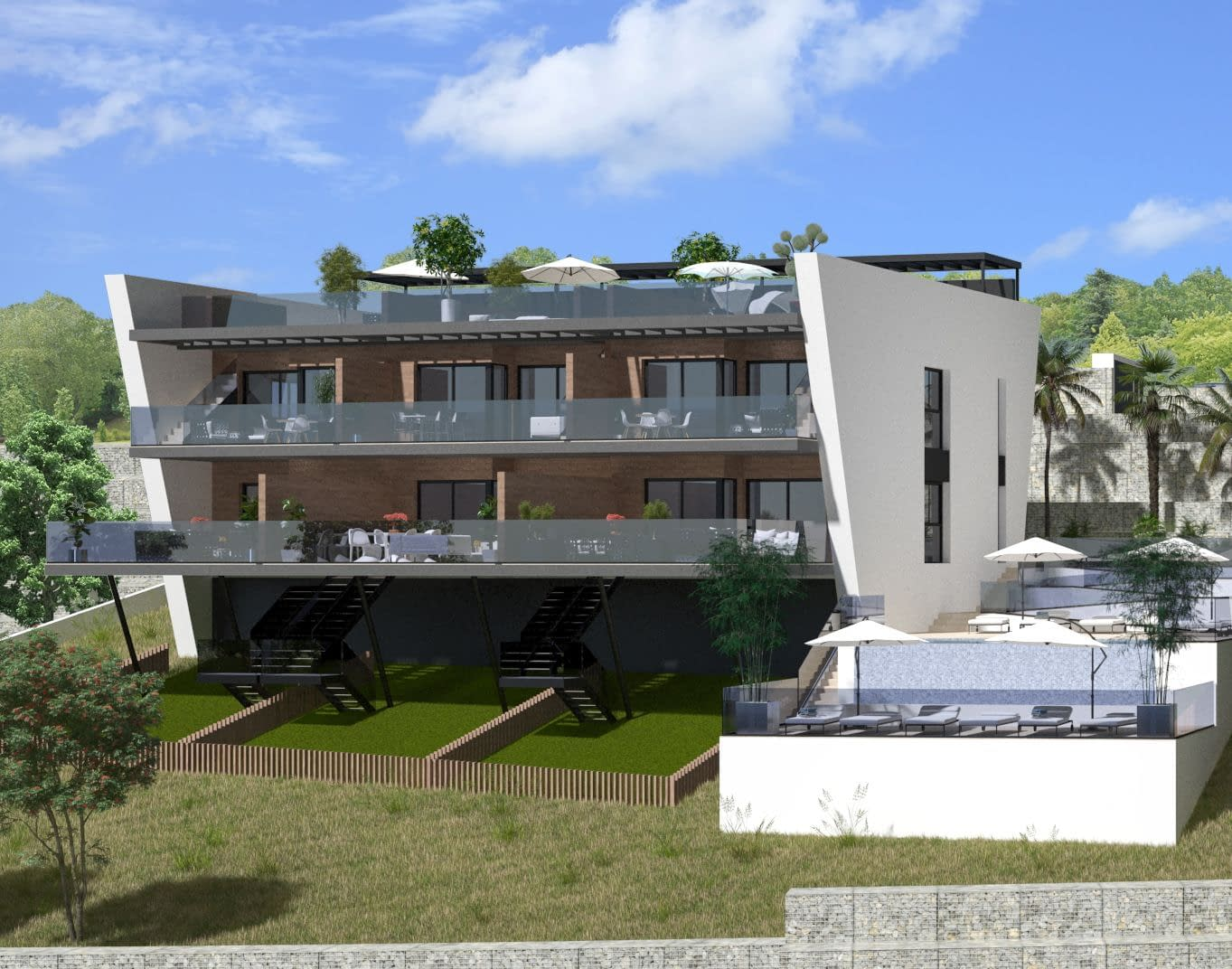 Wohnungen mit Panoramablick auf das Meer in Finestrat