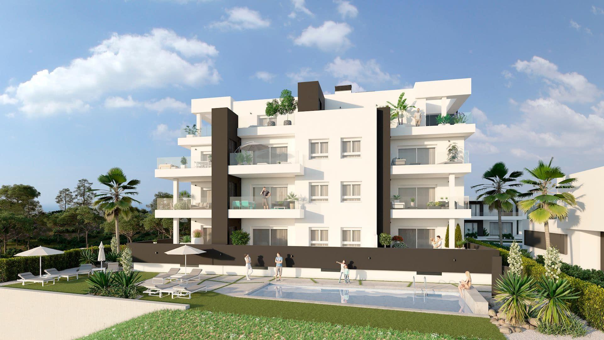 Modernes Apartment mit schöner Aussicht in Villamartin